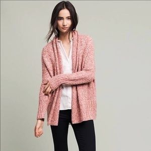 ANTHROPOLOGIE Angel of The North Pink Cardigan